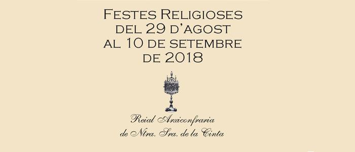 Programa de les Festes Religioses de la Cinta 2018